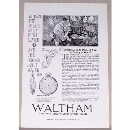 1919 Waltham Colonial A Pocket Watch Print Ad