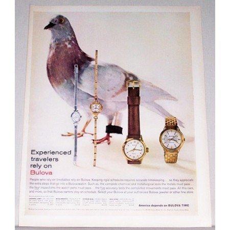 1960 Bulova Watches Color Print Ad