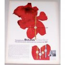 1963 Bulova Dewdrop 17 Jewel Watch Color Print Ad