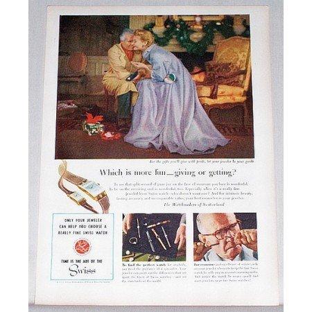 1953 Watchmakers of Switzerland Color Art Print Ad