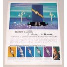 1961 Bulova New Diamond Dream Ladies Watch Color Print Ad