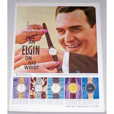 1961 Elgin Wristwatch Color Print Ad