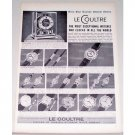 1955 Le Coultre Watches Print Ad - Express Fondest Esteem