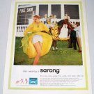 1957 Sarong Style 108 Criss Cross Girdle Color Print Ad