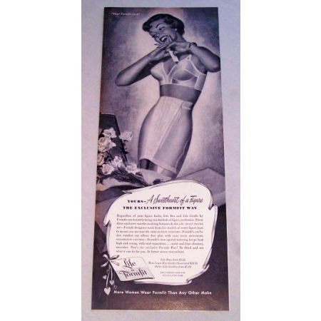1950 Life by Formfit Bra and Girdle Print Ad - Formfit Look