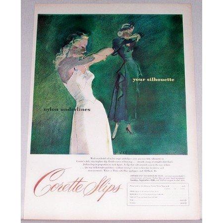 1948 Corette Slips JKR Art Color Print Ad