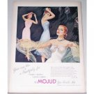 1951 Mojud Year Rounder Slip Color Art Print Ad