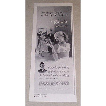 1958 Formfit Bobbie Bra Print Ad