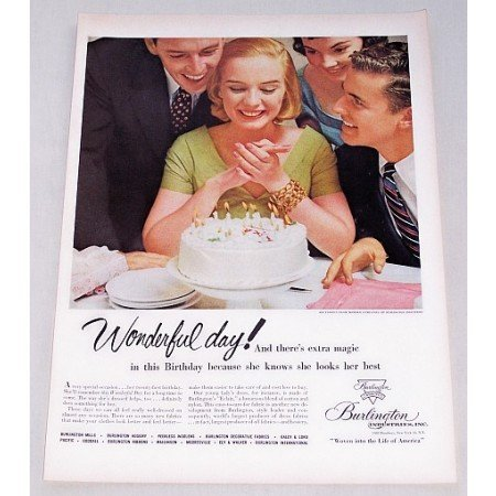 1956 Burlington Industries Eclair Fabric Color Print Ad