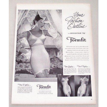 1956 Formfit Bra Girdle Print Ad