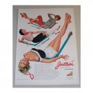1955 Jantzen Sunclothes Color Art Print Ad - More Fun Than Money