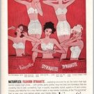 1960 Naturflex Bra Panty Girdles Color Art Print Ad - Fashion Dynamite