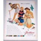 1948 Jantzen Sunclothes Golf Art Color Print Ad - Umm As In Summer