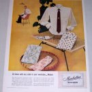 1954 Manhattan Wicker Dress Sport Shirts Color Print Ad