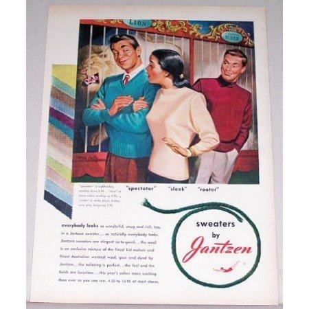 1947 Jantzen Sweaters Color Print Art Ad