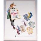 1948 Van Heusen Shirts Ties Pajamas Socks Color Print Ad