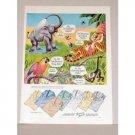 1948 Arrow Sumara Sports Shirts Zoo Animal Art Color Print Ad