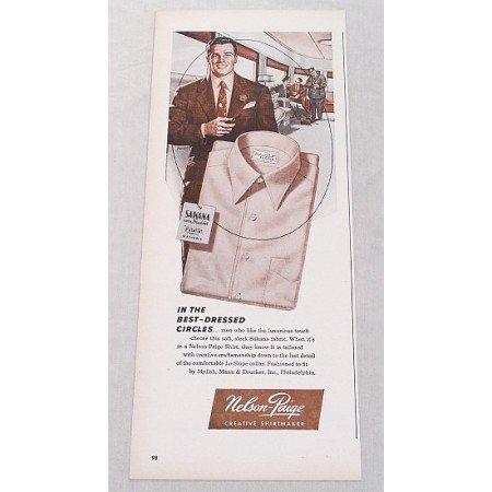 1948 Nelson Paige Sakana Fabric Shirts Color Print Ad