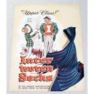 1946 Inter Woven Socks Color Art Ad - Upper Class!