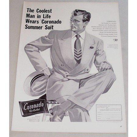 1948 Coronado Summer Suit Print Ad - Coolest Man In Life