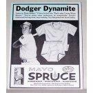 1956 Mayo Spruce Garmets Print Ad Baseball Celebrity Duke Snider
