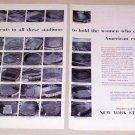 1953 NY Stock Exchange Football Baseball Stadiums Print Ad