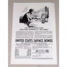 1937 United States Savings Bonds Print Ad - An Investment Plan