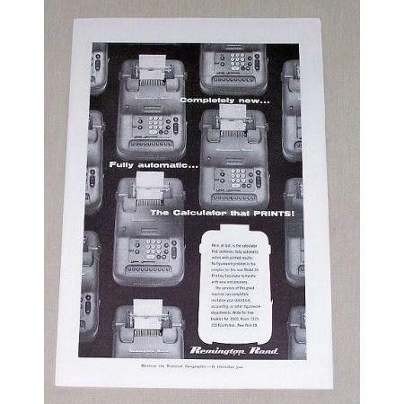 1955 Remington Rand Model 99 Calculator Print Ad