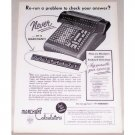 1954 Marchant Calculators Keyboard Check Dials Print Ad