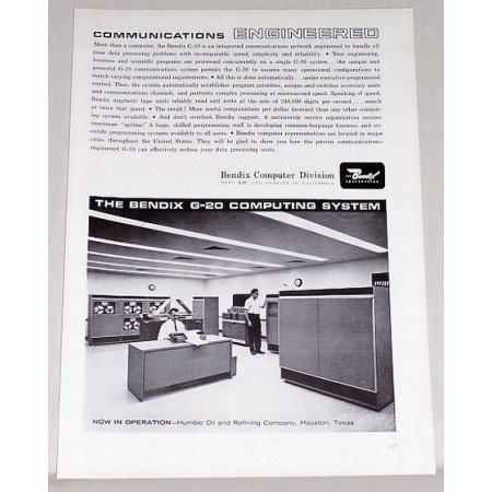 1962 Bendix G-20 Computing System Print Ad