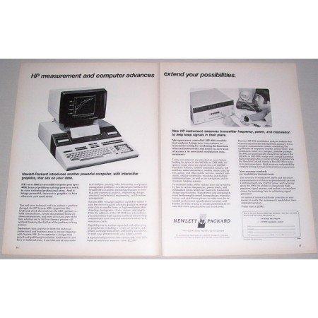 1979 Hewlett Packard 9800 System 45B Computer 2 Page Print Ad