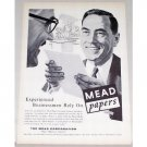 1955 Mead Printing Papers Print Ad