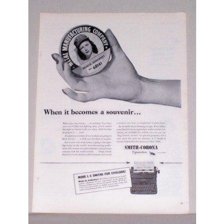 1944 Smith Corona Typewriters Print Ad