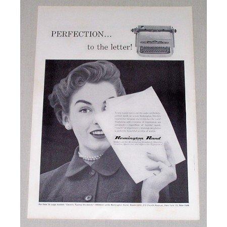 1954 Remington Rand Electric Typewriter Print Ad