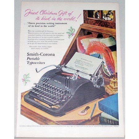 1948 Smith Corona Portable Typewriter Color Art Print Ad