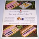 1949 Aero-Metric Parker 51 Ink Pen Sets Color Print Ad