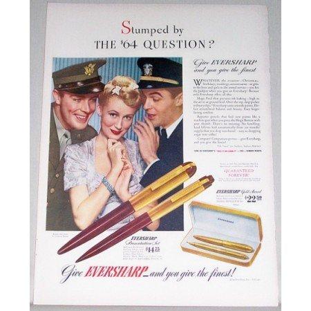 1942 Eversharp Pen Presentation Set Color Wartime Print Ad