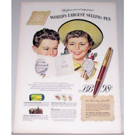 1948 BB Executive Pen Color Print Ad