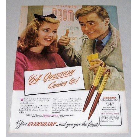 1946 Eversharp Presentation Pen Pencil Set Color Print Ad