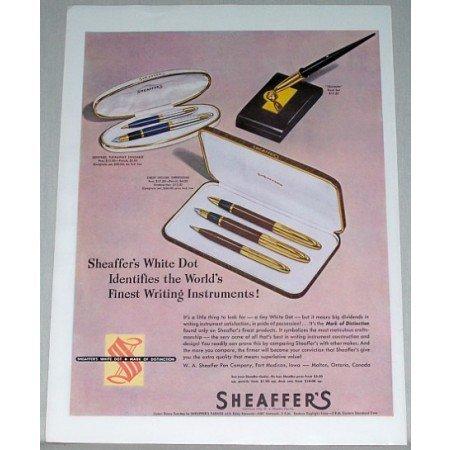 1948 Sheaffer's White Dot Pen Pencil Sets Color Print Ad