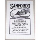 1919 Sanford's Premium Writing Fluid Print Ad