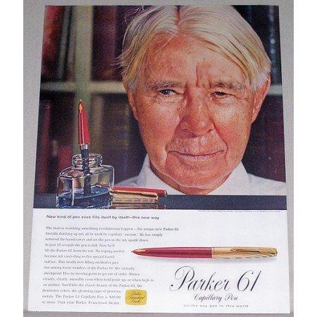 1957 Parker 61 Capillary Pen Color Print Ad
