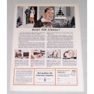 1949 Metropolitan Life Insurance Color Art Print Ad - Ready For School