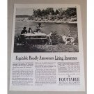 1954 Equitable Life Assurance Outdoor Picnic Print Ad