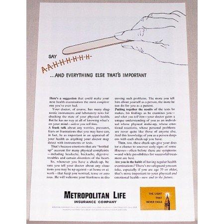 1961 Metropolitan Life Insurance Company Print Ad