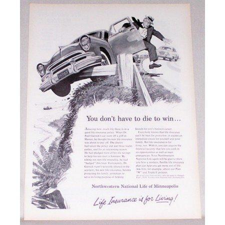 1954 Northwestern National Life Insurance Art Print Ad
