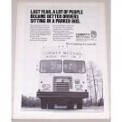 1972 Liberty Mutual Insurance Mobil Unit No. 1 Bus Print Ad