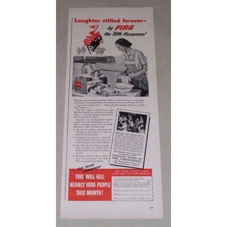 1949 National Board of Fire Underwriters Print Ad