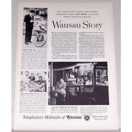 1955 Employers Mutuals of Wausau Print Ad