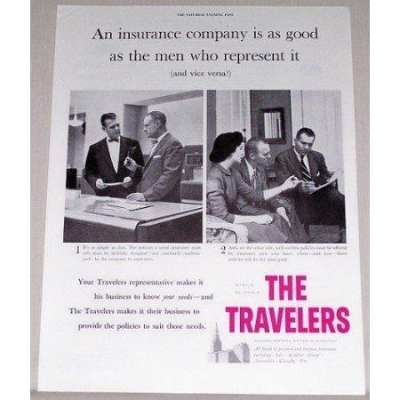 1955 The Travelers Insurance Company Print Ad